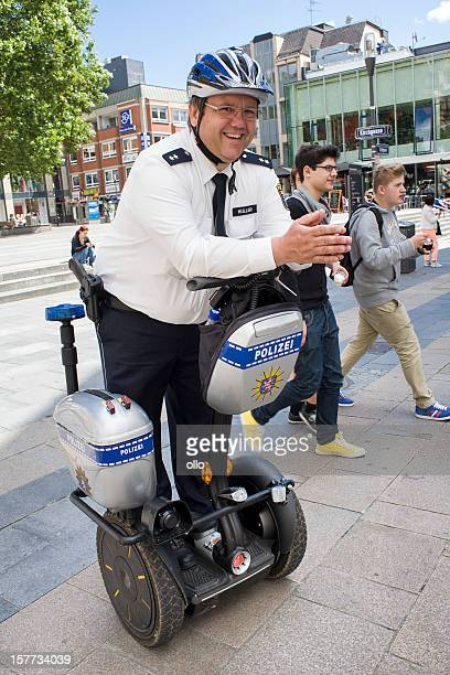 German police officer on a segway vehicle