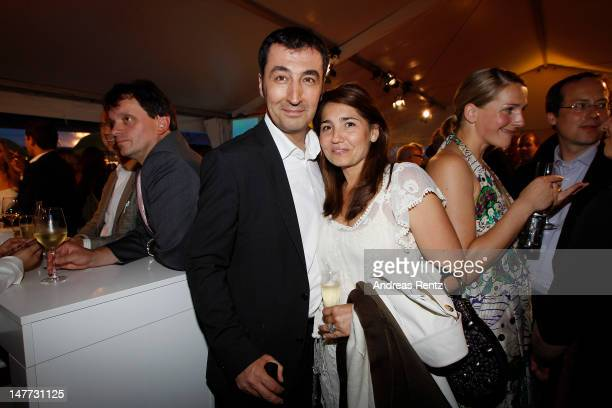 German politican Cem Oezdemir and partner Pia Maria Castro attend the ZDF summer reception on July 2 2012 in Berlin Germany