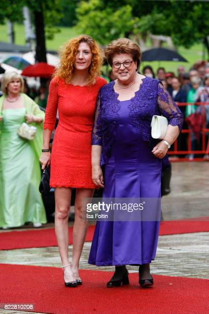 German politician Barbara Stamm and her daughter Elisabeth Stamm attend the Bayreuth Festival 2017 Opening on July 25 2017 in Bayreuth Germany