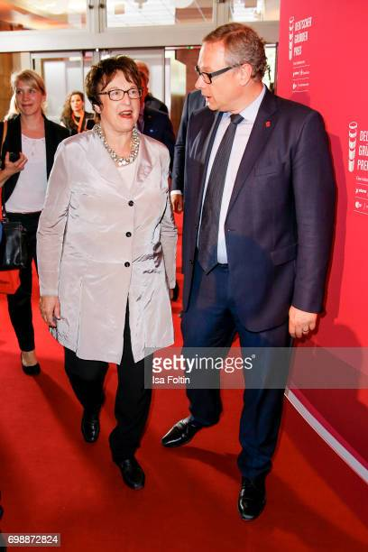 German politician Brigitte Zypries and Georg Fahrenschon attends the Deutscher Gruenderpreis on June 20 2017 in Berlin Germany
