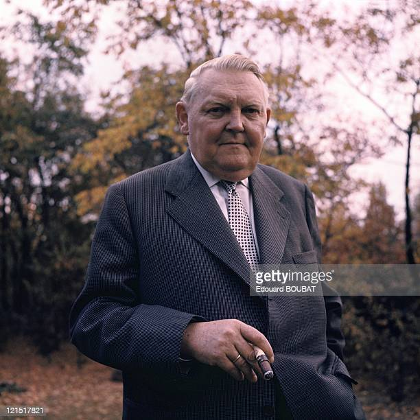 German Politician Christian Democrat And Chancellor Ludwig Erhard In The 1960'S