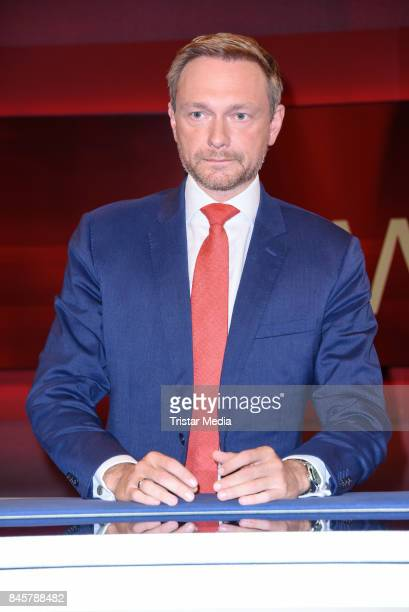 German politician Christian Lindner durig the TV Show 'hart aber fair' on September 11 2017 in Berlin Germany