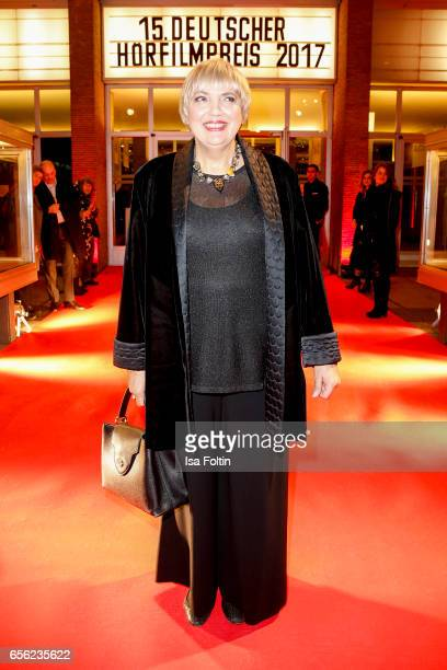 German politician Claudia Roth arrives at the Deutscher Hoerfilmpreis at Kino International on March 21 2017 in Berlin Germany