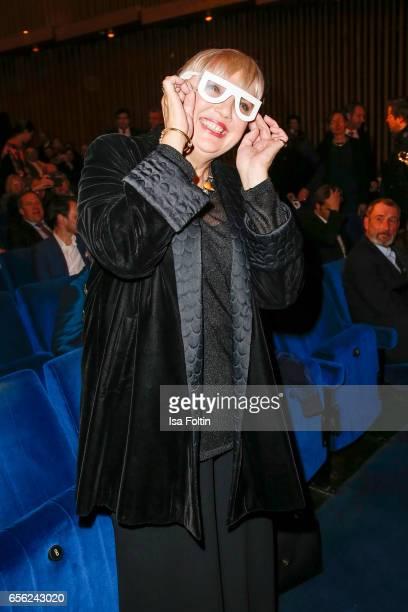 German politician Claudia Roth attends the Deutscher Hoerfilmpreis at Kino International on March 21 2017 in Berlin Germany