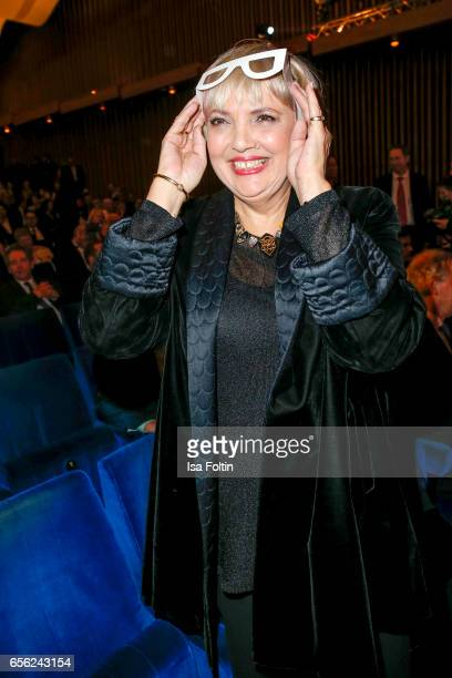 German politician Claudia Roth attends the Deutscher Hoerfilmpreis at Kino International on March 21 2017 in Berlin Germany