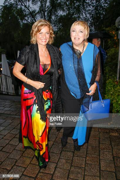 German politician Dagmar Woehrl and German politician Claudia Roth attend the Bayreuth Festival 2017 Opening on July 25 2017 in Bayreuth Germany
