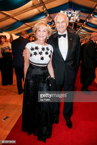 German politician Edmund Stoiber and his wife Karin Stoiber during the Bayreuth Festival 2017 State Reception on July 25 2017 in Bayreuth Germany