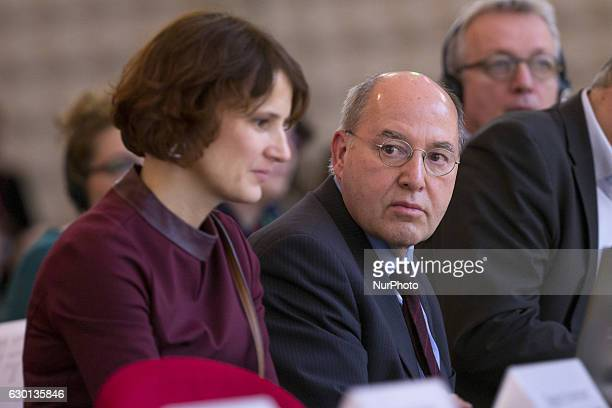 German politician Gregor Gysi and Coleader of Die Linke party Katja Kipping are pictured during the 5th congress of the Party of the European Left in...
