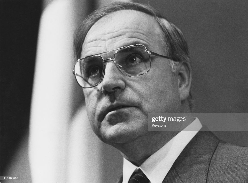 German politician Helmut Kohl chairman of the opposition Christian Democratic Union May 1981