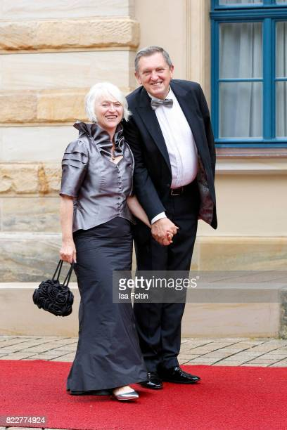 German politician Hermann Huebner and his wife Gisela Huebner attend the Bayreuth Festival 2017 Opening on July 25 2017 in Bayreuth Germany