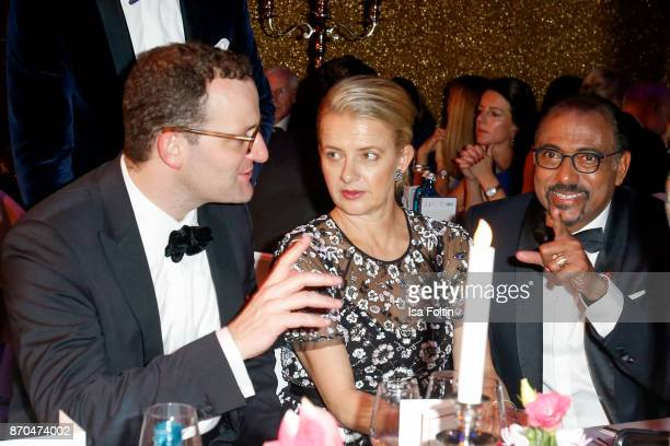 German politician Jens Spahn your Royal Highness Princes Mabel von OranienNassau and Michel Sidibe attend the aftershow party during during the 24th...