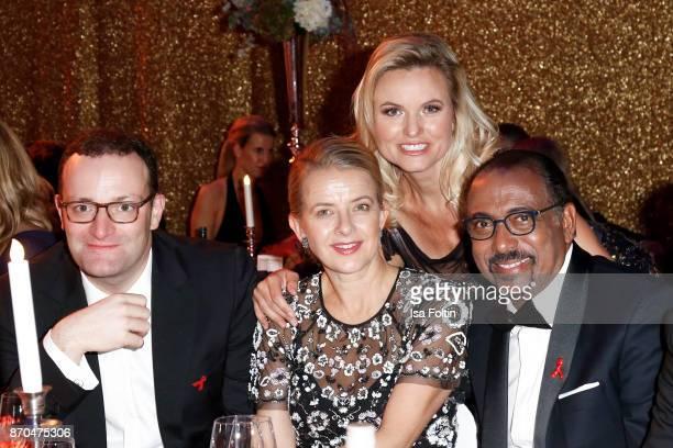 German politician Jens Spahn your Royal Highness Princes Mabel von OranienNassau German presenter Carola Ferstl and Michel Sidibe attend the...