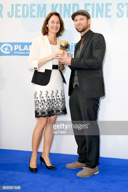 German politician Katarina Barley and award winner Lukas Roegler attend the Ulrich Wickert Award For Children's Rights at Stadtbad Oderberger on...