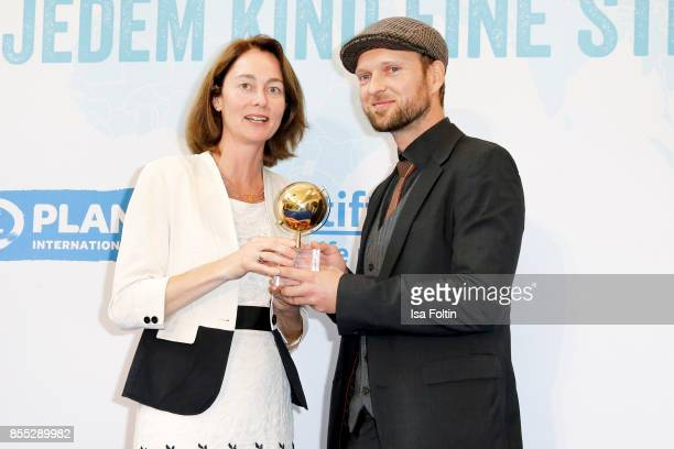 German politician Katarina Barley and award winner Lukas Roegler during the Ulrich Wickert Award For Children's Rights at Stadtbad Oderberger on...