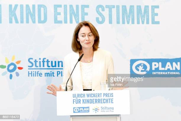 German politician Katarina Barley during the Ulrich Wickert Award For Children's Rights at Stadtbad Oderberger on September 28 2017 in Berlin Germany