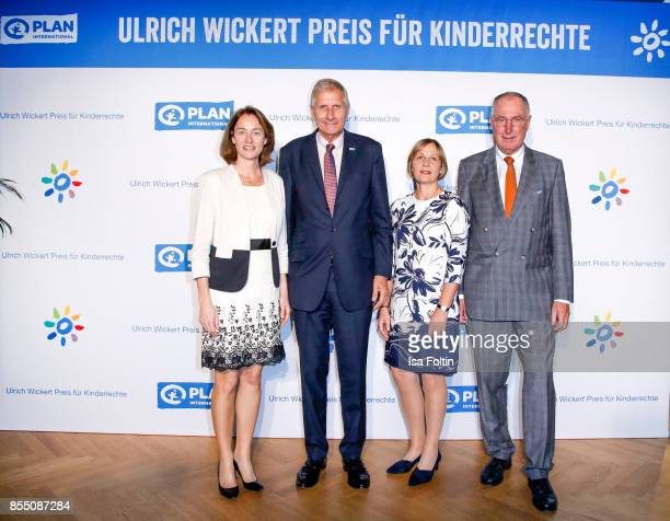 German politician Katarina Barley German news anchor Ulrich Wickert Maike Roettger CEO Plan International Germany and Werner Bauch chairman of the...