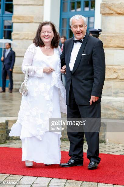 German politician Ludwig Spaenle and his wife Miriam Spaenle attend the Bayreuth Festival 2017 Opening on July 25 2017 in Bayreuth Germany