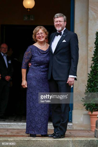German politician Marcel Huber and his wife Marianne Huber attend the Bayreuth Festival 2017 Opening on July 25 2017 in Bayreuth Germany