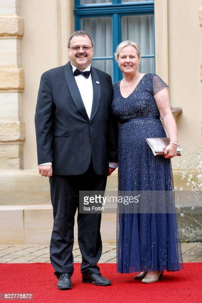 German politician Peter Meyer and his wife Claudia Meyer attend the Bayreuth Festival 2017 Opening on July 25 2017 in Bayreuth Germany