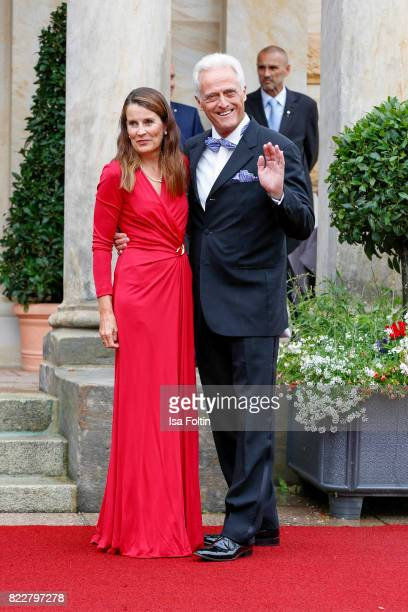 German politician Peter Ramsauer and his wife Susanne Ramsauer attend the Bayreuth Festival 2017 Opening on July 25 2017 in Bayreuth Germany