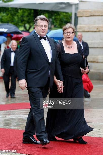 German politician Winfried Bausback and his wife Carla Bausback attend the Bayreuth Festival 2017 Opening on July 25 2017 in Bayreuth Germany