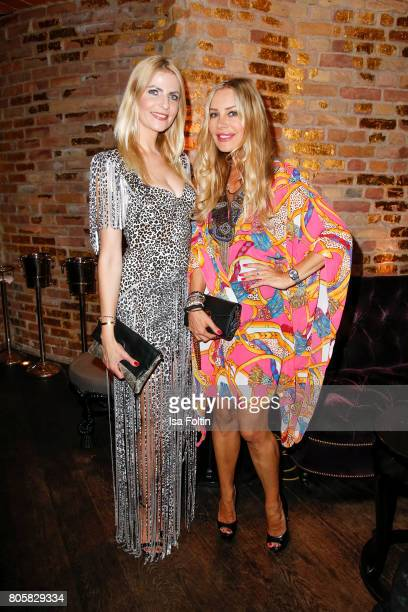 German presenster Tanja Buelter and German actress Xenia Seeberg during the host of Annabelle Mandengs Ladies Dinner at Hotel Zoo on July 2 2017 in...