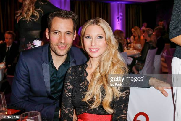 German presenter Alexander Mazza and Sabine Piller during the Kempinski Fashion Dinner on May 23 2017 in Munich Germany