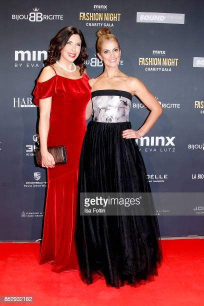 German presenter Alexandra Polzin and German presenter Kerstin Linnartz during the Minx Fashion Night in favour of 'Sauti Kuu' of Auma Obama at...