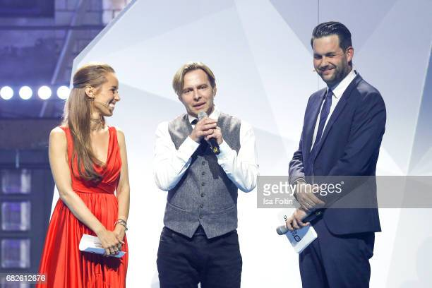 German presenter Annamarie Carpendale Clark Datchler and german presenter Matthias Killing during the GreenTec Awards Show at ewerk on May 12 2017 in...