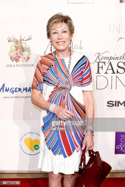German presenter AntjeKatrin Kuehnemann attends the Kempinski Fashion Dinner on May 23 2017 in Munich Germany