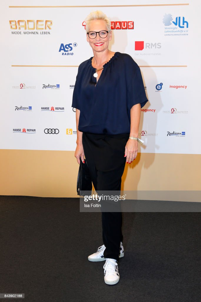 German presenter Baerbel Schaefer attends the 'Deutscher Radiopreis' (German Radio Award) at Elbphilharmonie on September 7, 2017 in Hamburg, Germany.