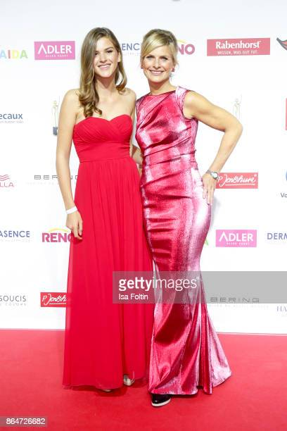 German presenter Barbara Hahlweg and her daughter Franka Hahlweg attend the 'Goldene Bild der Frau' award at Hamburg Cruise Center on October 21 2017...