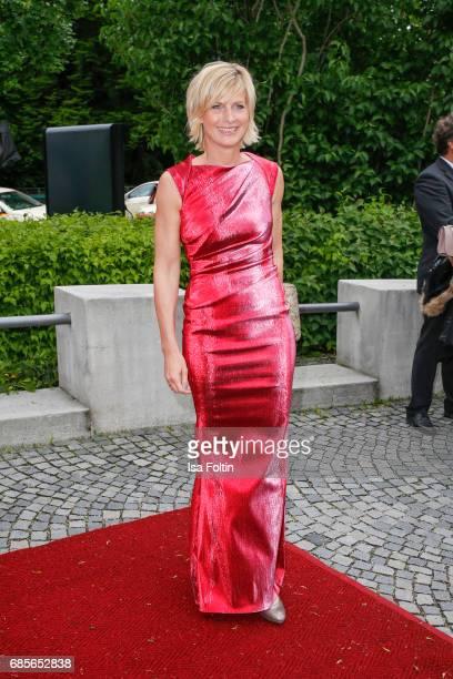 German presenter Barbara Hahlweg attends the Bayerischer Fernsehpreis 2017 at Prinzregententheater on May 19 2017 in Munich Germany