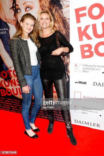German presenter Carola Ferstl and her daughter Julia Ferstl attend the 'FotoKunstBoulevard' opening at MartinGropiusBau on May 4 2017 in Berlin...