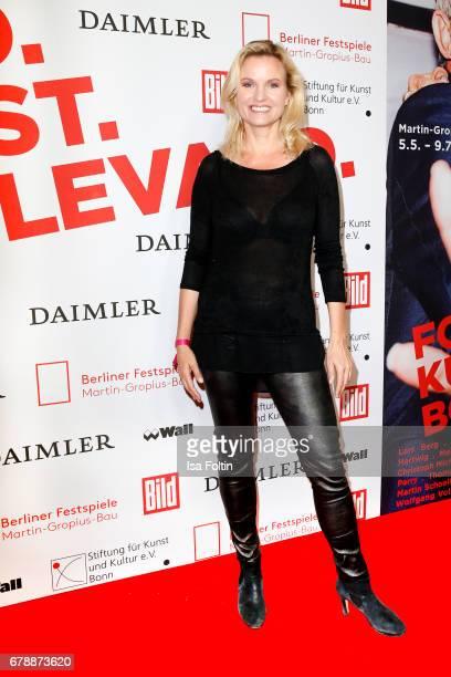 German presenter Carola Ferstl attends the 'FotoKunstBoulevard' opening at MartinGropiusBau on May 4 2017 in Berlin Germany