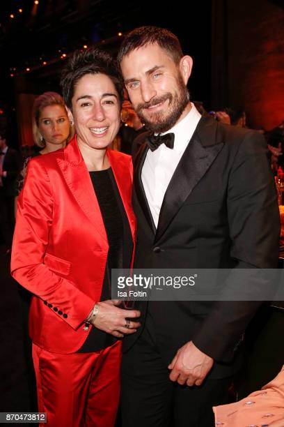 German presenter Dunja Hayali and German actor Clemens Schick attend the aftershow party during during the 24th Opera Gala at Deutsche Oper Berlin on...