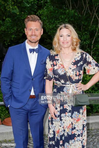 German presenter Gregor Teicher and German presenter Jessica Kastrop attend the Bayerischer Fernsehpreis 2017 at Prinzregententheater on May 19 2017...