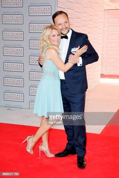 German presenter Jennifer Knaeble and her boyfriend Felix Moese during the German Media Award 2016 at Kongresshaus on May 25 2017 in BadenBaden...