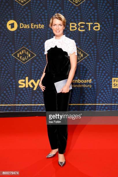 German presenter Jessy Wellmer attends the 'Babylon Berlin' Premiere at Berlin Ensemble on September 28 2017 in Berlin Germany