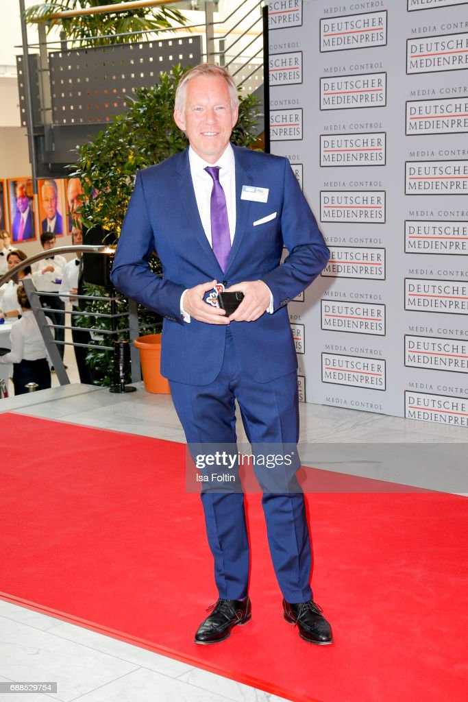 German presenter Johannes B. Kerner during the German Media Award 2016 at Kongresshaus on May 25, 2017 in Baden-Baden, Germany. The German Media Award (Deutscher Medienpreis) has been presented annually since 1992 to honor personalities from public life.