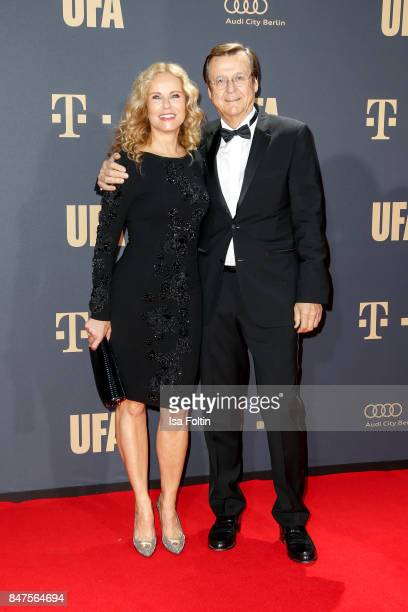 German presenter Katja Burkard and her husband Hans Mahr attend the UFA 100th anniversary celebration at Palais am Funkturm on September 15 2017 in...