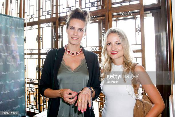 German presenter Katrin Wrobel and German actress Vanessa Eichholz attend the Thomas Sabo Press Cocktail during the MercedesBenz Fashion Week Berlin...