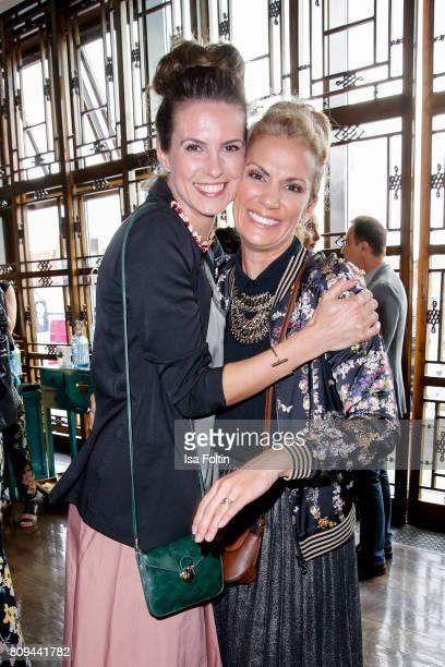 German presenter Katrin Wrobel and German presenter Kerstin Linnartz attend the Thomas Sabo Press Cocktail during the MercedesBenz Fashion Week...