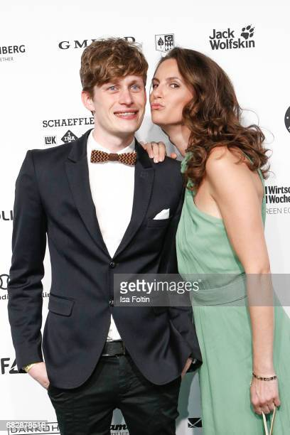 German presenter Katrin Wrobel and Lars Urban attend the GreenTec Awards at ewerk on May 12 2017 in Berlin Germany