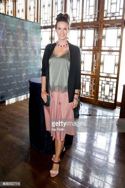 German presenter Katrin Wrobel attends the Thomas Sabo Press Cocktail during the MercedesBenz Fashion Week Berlin Spring/Summer 2017 at China Club on...