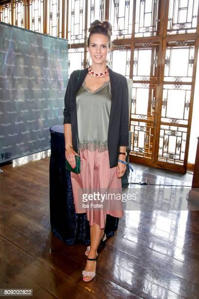 German presenter Katrin Wrobel attends the Thomas Sabo Press Cocktail during the MercedesBenz Fashion Week Berlin Spring/Summer 2017 at China Club on...