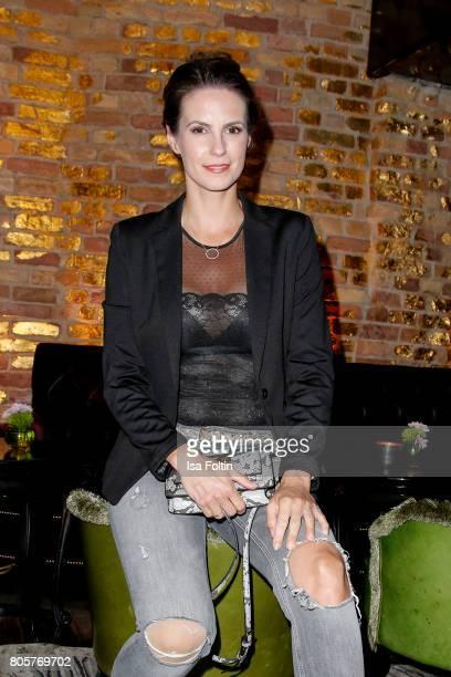 German presenter Katrin Wrobel during the host of Annabelle Mandengs Ladies Dinner at Hotel Zoo on July 2 2017 in Berlin Germany