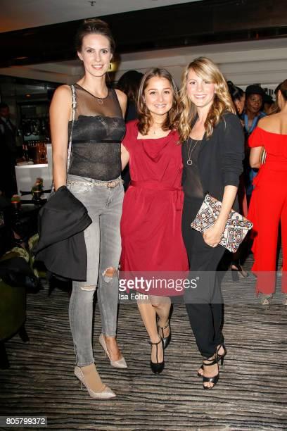 German presenter Katrin Wrobel German actress Sarah Alles and German acress Luisa Baehr during the host of Annabelle Mandengs Ladies Dinner at Hotel...