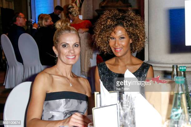 German presenter Kerstin Linnartz and model Marie Amiere during the Minx Fashion Night in favour of 'Sauti Kuu' of Auma Obama at Wuerzburger Residenz...