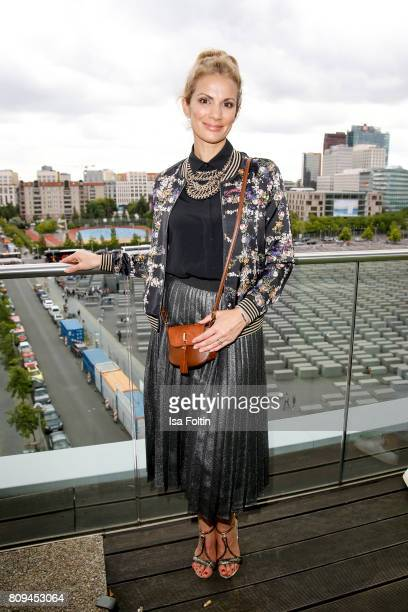 German presenter Kerstin Linnartz attends the Thomas Sabo Press Cocktail during the MercedesBenz Fashion Week Berlin Spring/Summer 2017 at China Club...